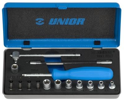 """Набор головок торцевых 1/4"""" и бит в металлической коробке - 188D UNIOR"""