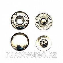 Кнопка Альфа 15 мм,сталь, никель