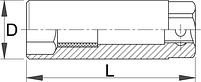 """Головка торцевая свечная, 3/8"""" - 186.4/2 UNIOR, фото 2"""