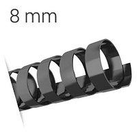 Пластиковые пружины для переплета (8 мм/45) черные