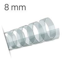 Пластиковые пружины для переплета (8 мм/45) прозрачные