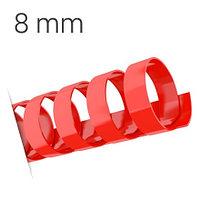 Пластиковые пружины для переплета (8 мм/45) красные