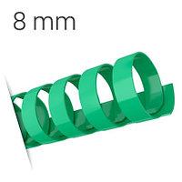 Пластиковые пружины для переплета (8 мм/45) зеленые