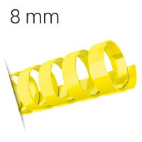 Пластиковые пружины для переплета (8 мм/45) желтые