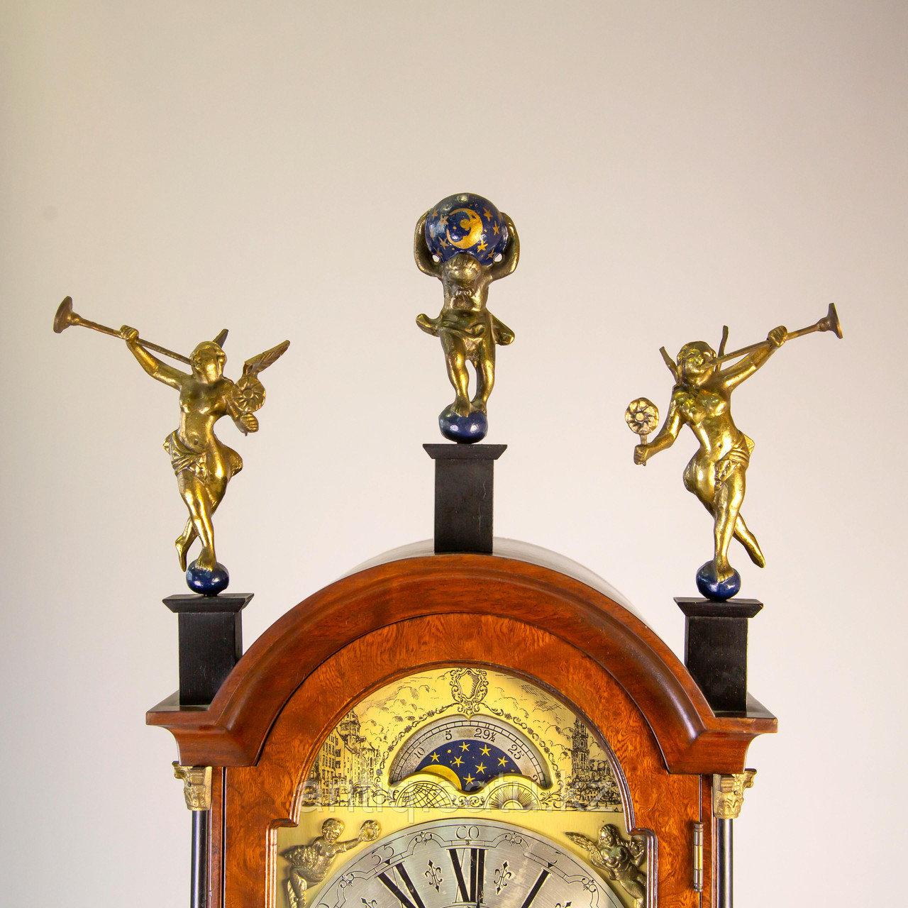 Напольные часы с лунным календарем. Голландия - фото 4