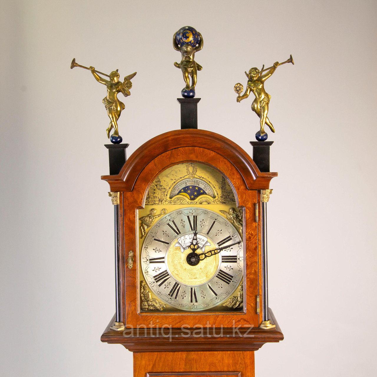 Напольные часы с лунным календарем. Голландия - фото 7