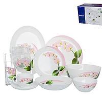 Столовый сервиз Luminarc Pink Orchid 46 предметов на 6 персон, фото 1