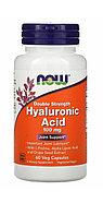 Гиалуроновая кислота, двойная сила, 100 мг, 60 капсул на растительной основе   Now Foods, фото 1
