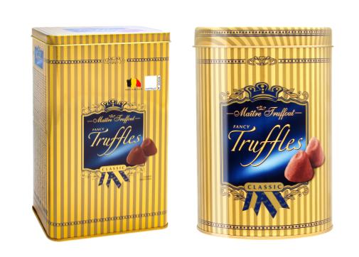 Конфет Maitre Truffout - Fancy Truffles Classic  железная банка 500гр (в ассортименте)
