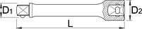 """Удлинитель 3/8"""" - 238.4/2 UNIOR, фото 2"""