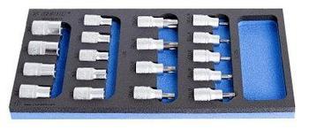 Набор головок торцевых со вставками TORX в SOS-ложементе - 964/16SOS UNIOR