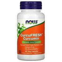 Now Foods, Куркумин CurcuFresh, 60 растительных капсул