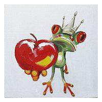 "Картина "" Frog with apple "" (80x80)"