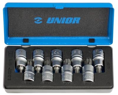 Набор головок торцевых со вставкой с профилем ZX Ribe в металлической коробке - 192/19 UNIOR