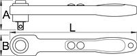 """Рукоятка реверсивная изолированная, 1/2"""" - 190.1VDE UNIOR, фото 2"""