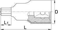 """Головка торцевая с шестигранной вставкой изолированная, 1/2"""" - 192/2HXVDEDP UNIOR, фото 2"""