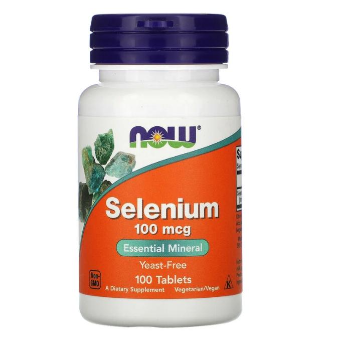 Now Foods, Selenium, 100 mcg, 100 Tablets