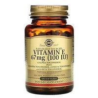 Solgar, Натуральный витамин Е, 67 мг (100 МЕ), 100 мягких таблеток