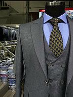 Мужской костюм-тройка Cardozo приталенного кроя в сером цвете 44-54