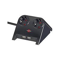 Удлинитель настольный Desktop-Power, черный (Brennenstuhl, Германия)