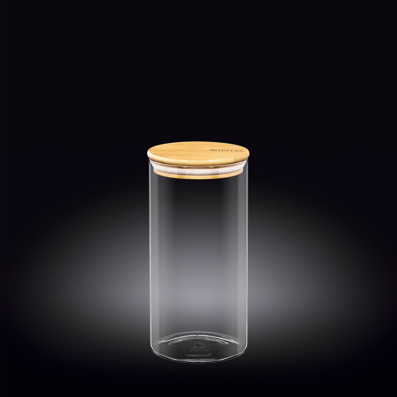 Банка 1300 мл Thermo Glass Wilmax с бамбуковой крышкой