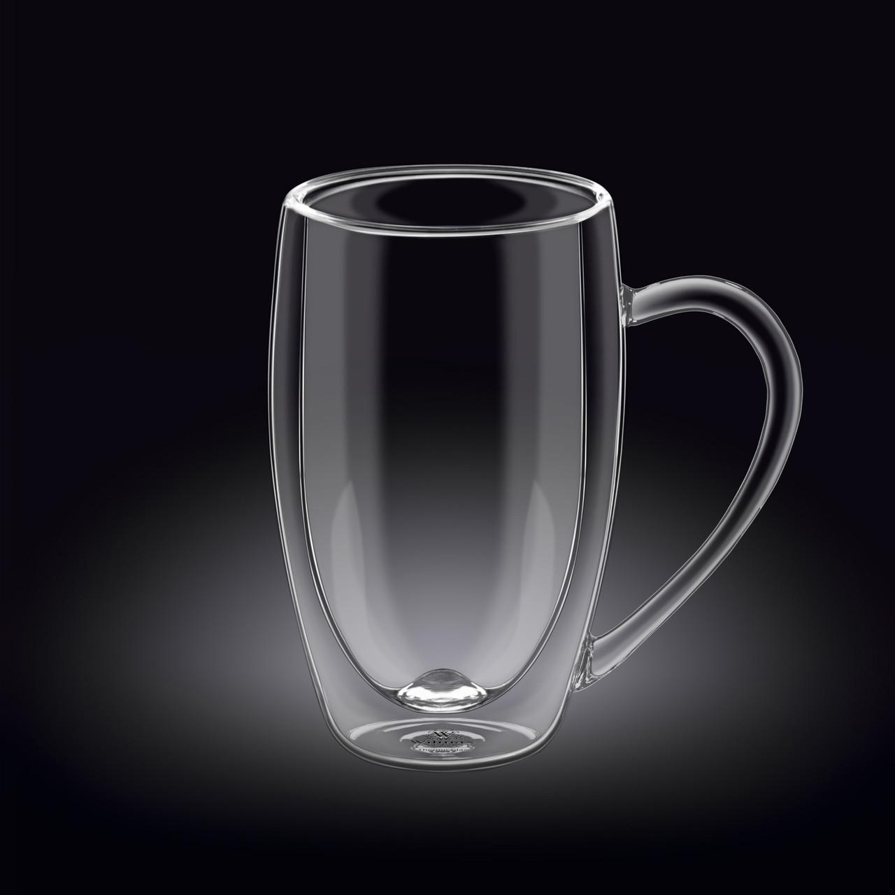 Кружка 400 мл Thermo glass Wilmax с двойными стенками