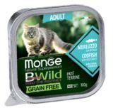 Monge BWild GF Cat 100г (Треска) Паштет для взрослых кошек Paté terrine Merluzzo