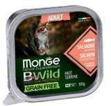 Monge BWild GF Cat 100г (Лосось) Паштет для кошек Paté terrine Salmone