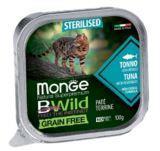 Monge BWild GF Cat 100г (Тунец) Паштет корм для стерилизованных кошек Paté terrine Tonno