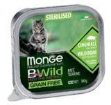 Monge BWild GF Cat 100г (Кабан) паштет корм для стерилизованных кошек Paté terrine Cinghiale, фото 1
