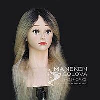 Каспи Рассрочка!!! Манекен с плечами, 100% натуральный, блонд омбре, 60 см