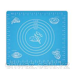 Коврик-подложка для раскатывания теста, 29х26 см, цвет голубой