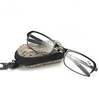 Складные очки +2,5 диоптрий с чехлом