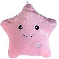 Светящаяся плюшевая подушка с функцией воспроизведения, цвет розовый