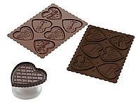 Силиконовая форма набор для печенья Cookie Hearts KIT SLIM, Silikomart