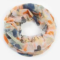 Палантин-труба текстильный, цвет разноцветный, размер 70х80 см