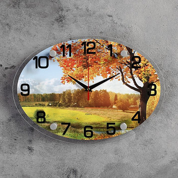 """Часы настенные, серия: Природа, """"Осенний лес"""", 24х34  см, микс"""