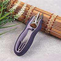 Ножницы для обрезки ниток, 12 см, цвет фиолетовый