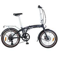Велосипед NOVATRACK 20* складной, чёрный - 20FATG8SD.BK8