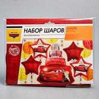 Набор фольгированных шаров 'Happy Birthday', Тачки 36'