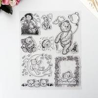 Штамп для творчества силикон 'Медвежата' 18х14 см
