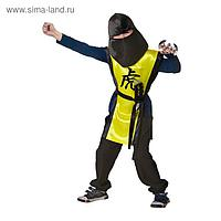 Карнавальный костюм «Ниндзя: жёлтый тигр» с оружием, р. 34, рост 140 см