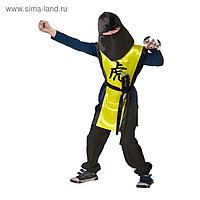 Карнавальный костюм «Ниндзя: жёлтый тигр» с оружием, р. 32, рост 122-128 см