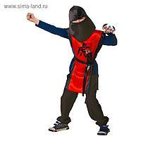 Карнавальный костюм «Ниндзя: красный тигр» с оружием, р. 32, 122-128 см