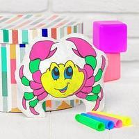 Игрушка-раскраска 'Крабик' (без маркеров) в пакете