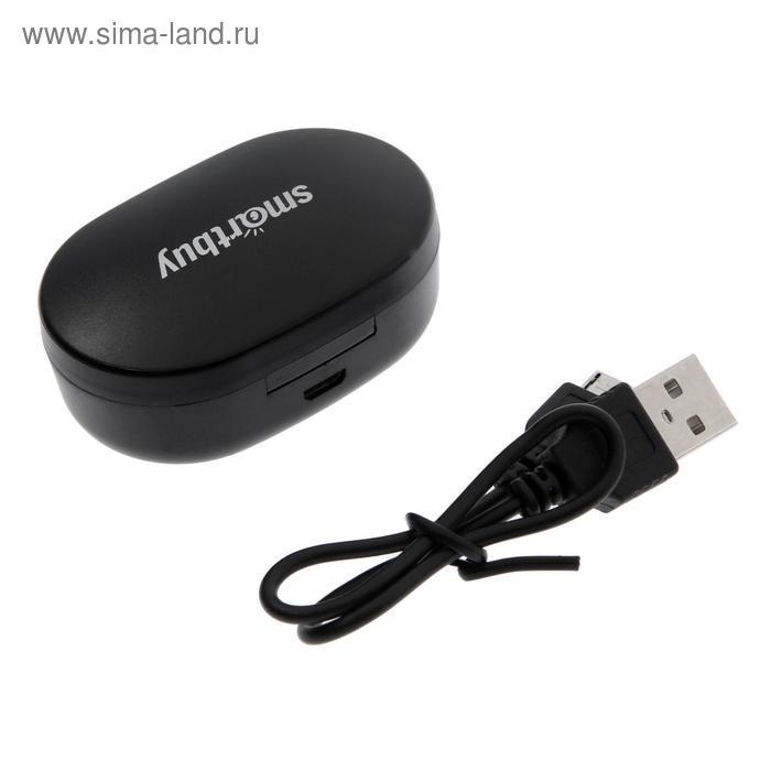 Наушники SmartBuy i200, беспроводные, вакуумные, микрофон, 100 дБ, 32 Ом, черные - фото 6