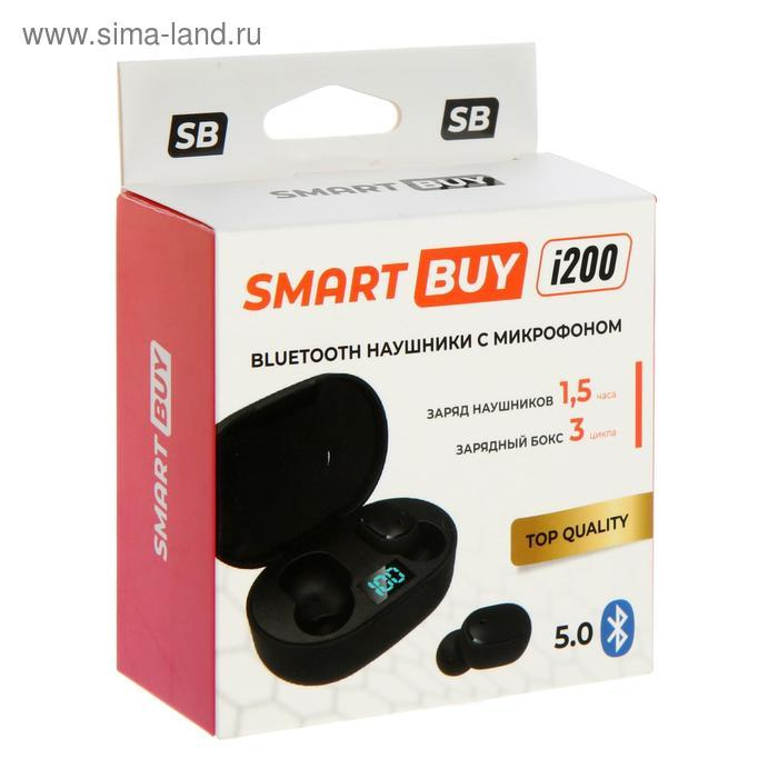 Наушники SmartBuy i200, беспроводные, вакуумные, микрофон, 100 дБ, 32 Ом, черные - фото 8