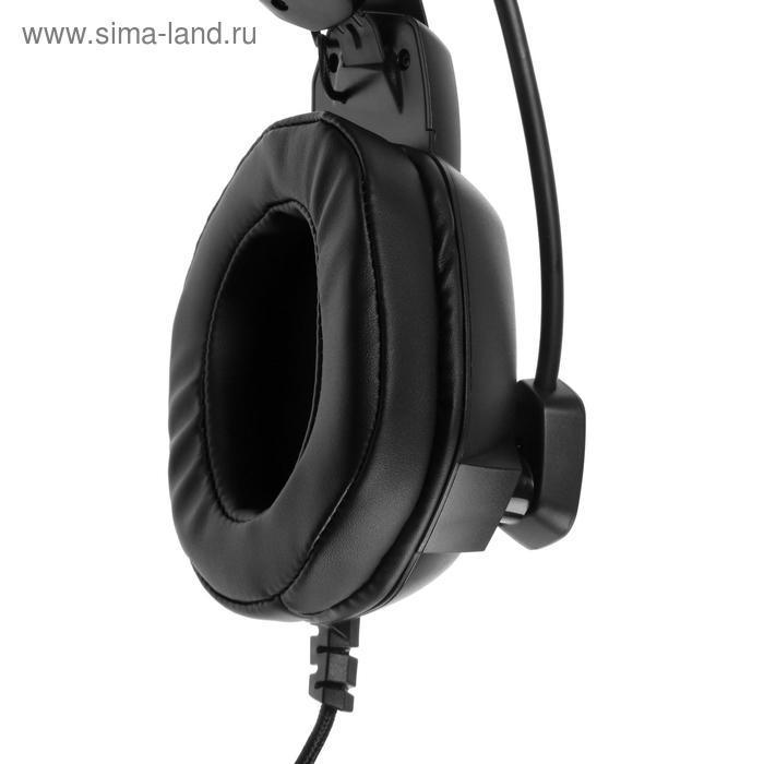 Наушники Smartbuy AMBITION, игровые, полноразмерные, микрофон, подсветка,2.1 м,чёрно-красные - фото 5