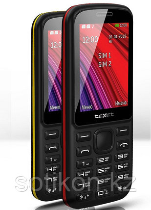 Мобильный телефон Texet TM-208 черно-желтый, фото 2
