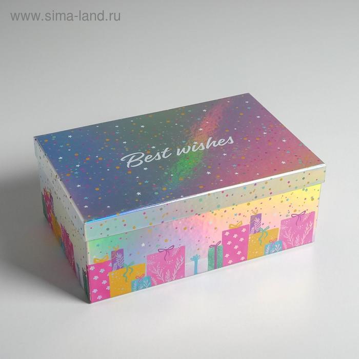 Набор иридисцентных коробок 10 в 1 «С Днем Рождения», 12 × 7 × 4 - 32.5 × 20 × 12.5 см - фото 4